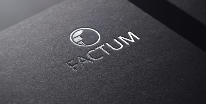 Дизайн логотипа Factum