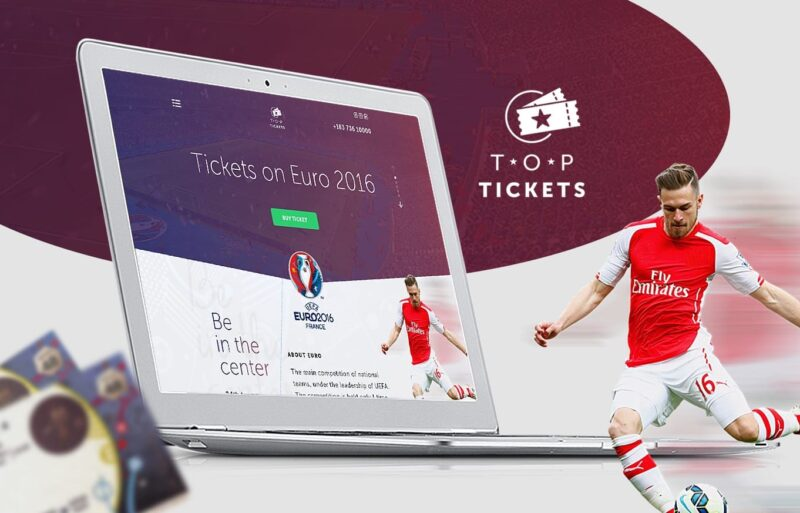Top Tickets, logo and landing euro 2016