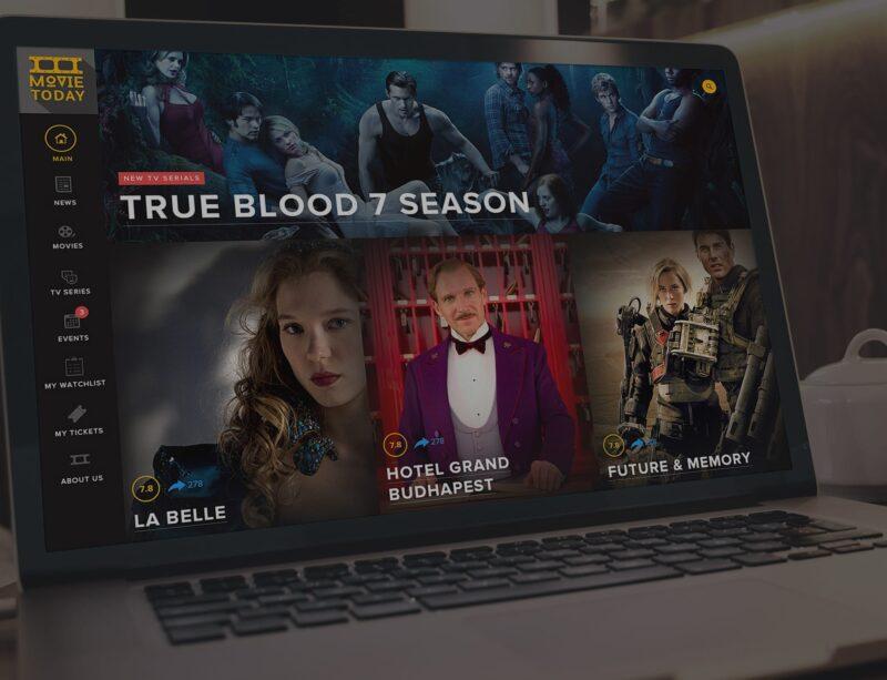 Movie Today, логотип и вебсайт про кино