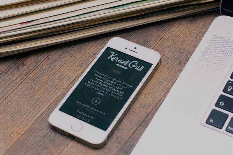 Разработка логотипа и сайта для паба Kernell Grill