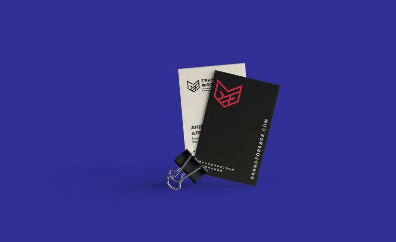 Разработка логотипа и фирменного стиля для транспортной компании Гранд Форсаж