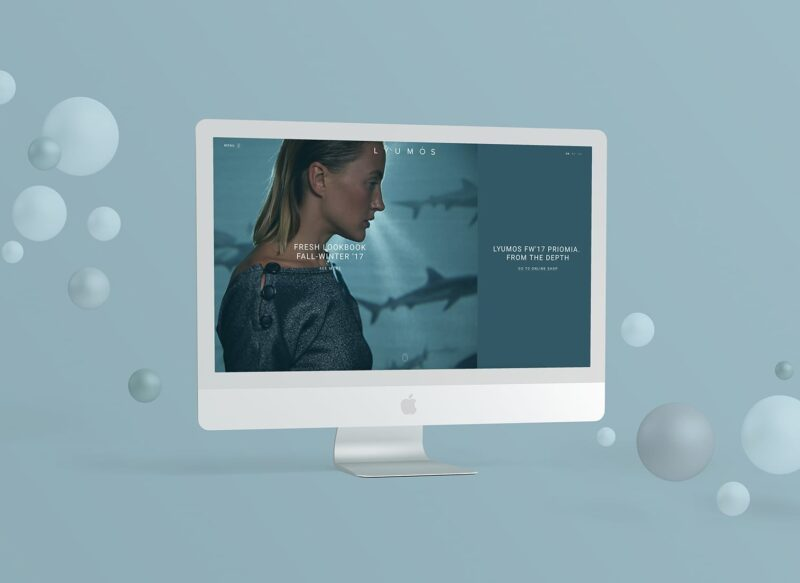 Корпоративный сайт для бренда LYUMOS
