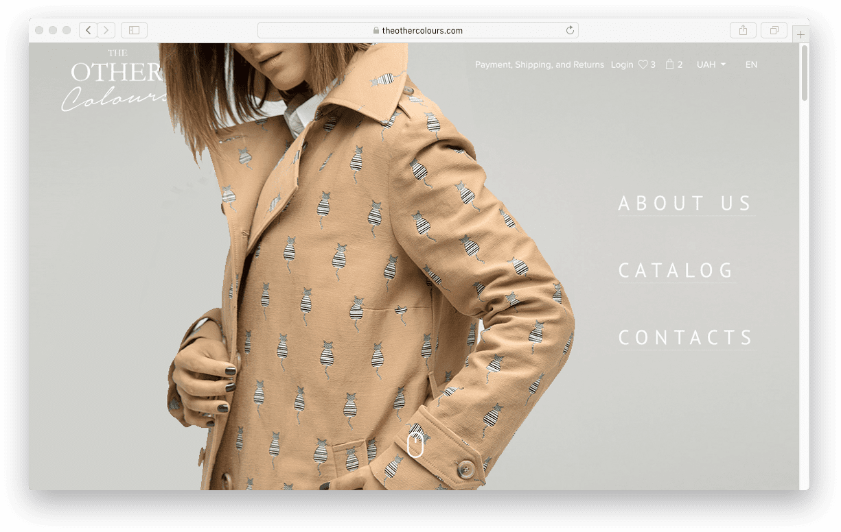 сайт дизайнера одежды