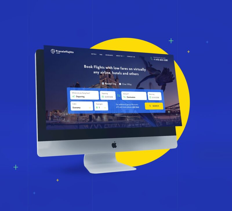 Разработка сайта Pre Sale Flights