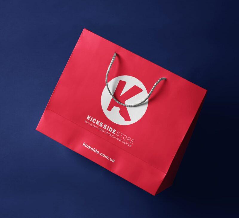 Дизайн логотипа и фирменного стиля для обувного магазина Kicks Side Store