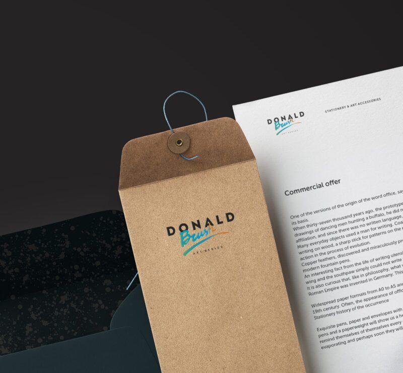 Разработка логотипа и фирменного стиля Donald Brush