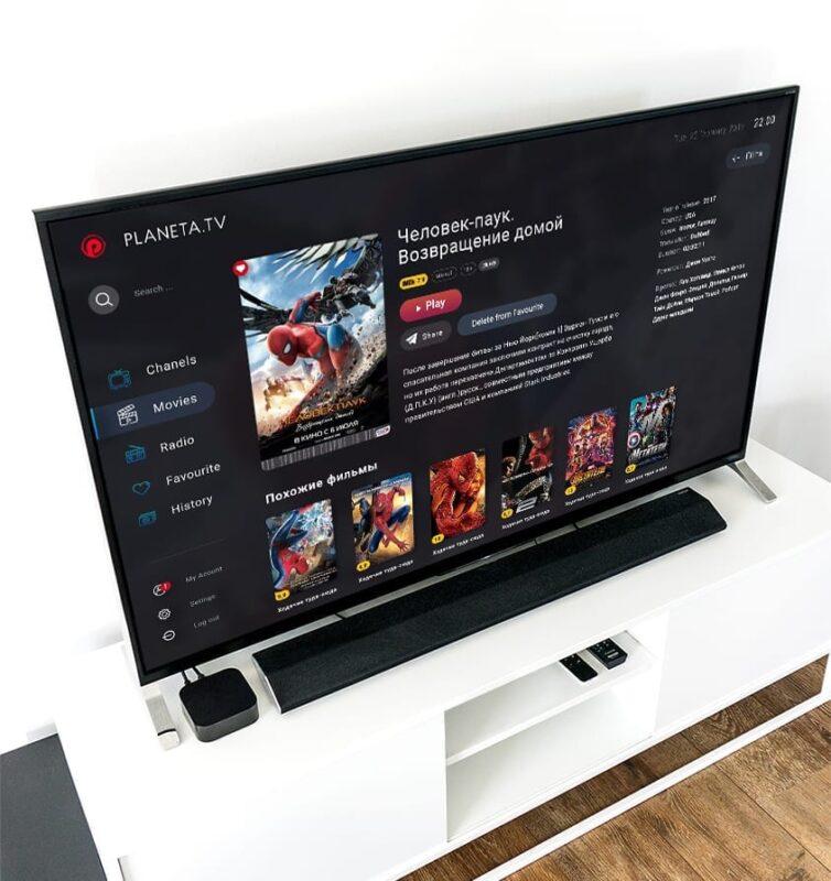 Захищено: Дизайн UI/UX для платформы TV Planeta