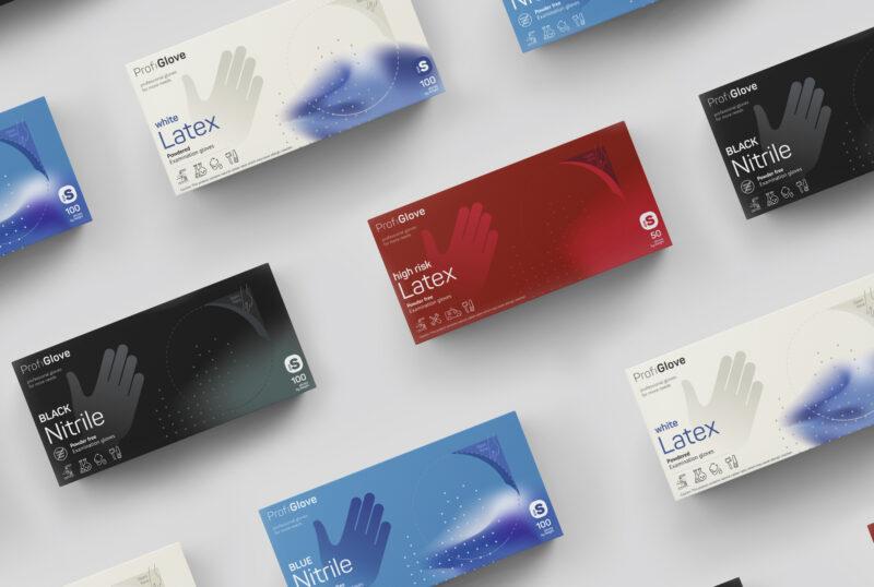 Дизайн упаковки перчаток ProfiGlove